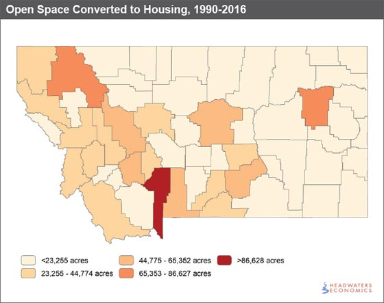 Open Space Converted to Housing, 1990-2016