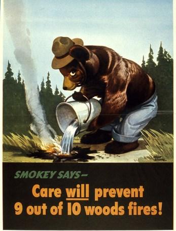 Smokey Bear campaign, 1944.