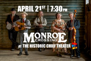 Monroe Crossing | Fundraiser Concert @ The Historic Chief Theater Home | Bemidji | Minnesota | United States
