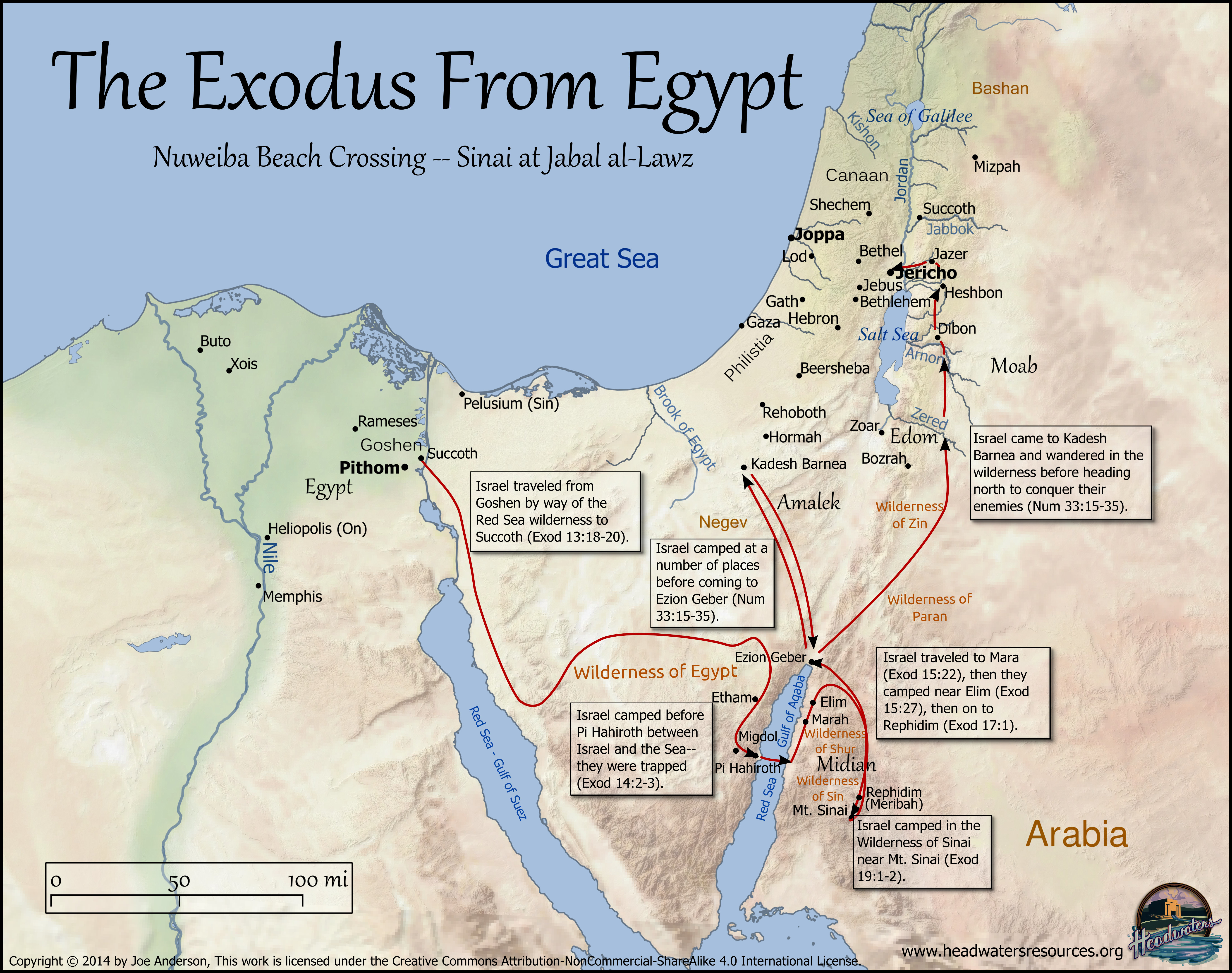 Exodus Route Map Headwaters Christian Resources