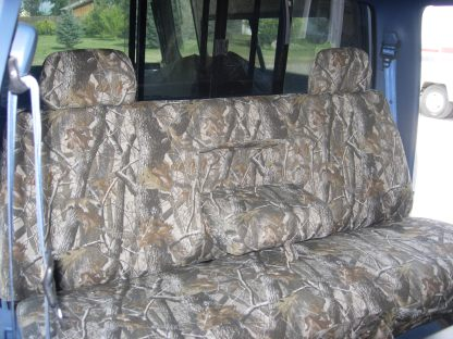 1992 - 1998 Ford F-150 Bench with Armrest and Adjustable Headrests Seat Covers