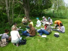 HMN training class hard at work at Cooks Creek Arboretum.