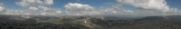 So this is from the top of Grayback Mountain (12,600) near Indian Pass. Best views on the divide.