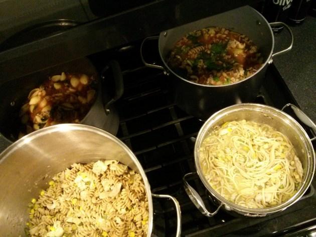 pasta e fagioli & creamy chicken soup