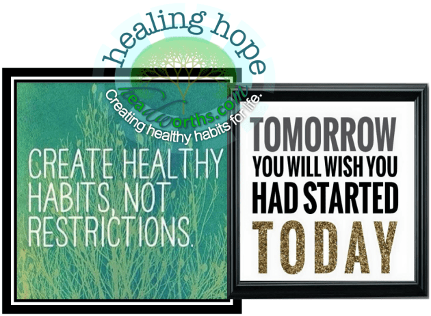 create healthy habits not restrictions start today