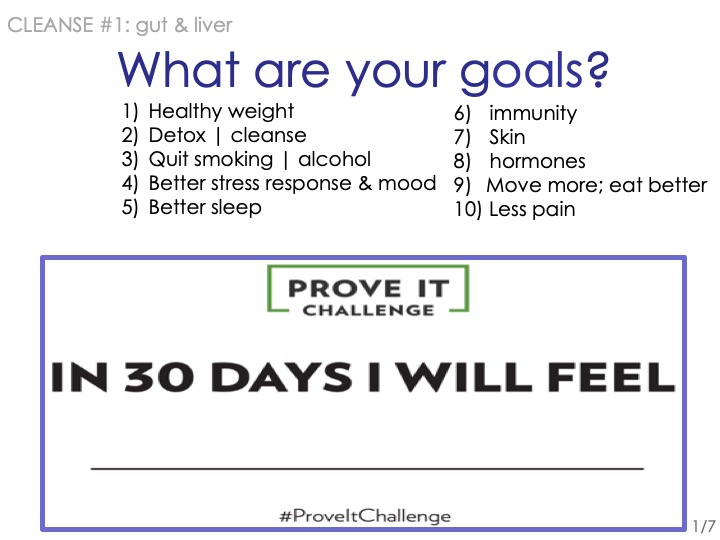 -What are your top 2 or 3 cleanse goals?