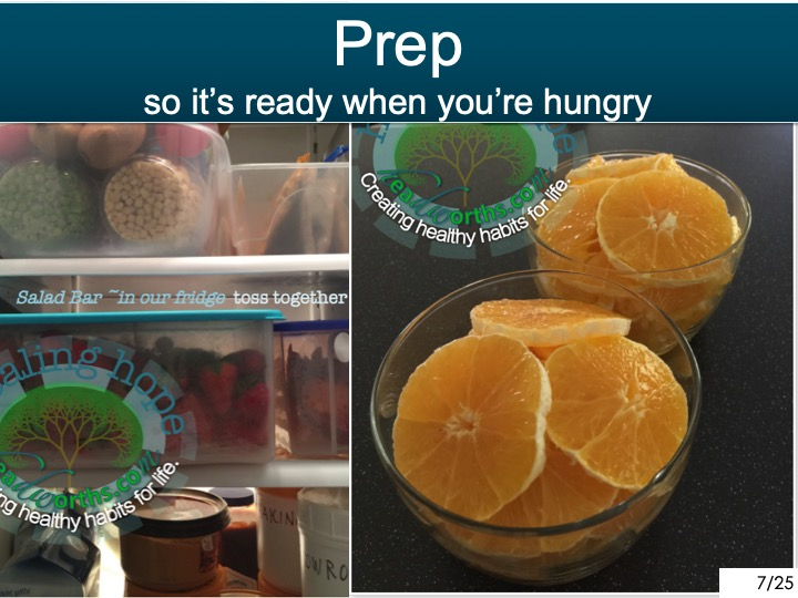 -Prep So it's ready when you're hungry