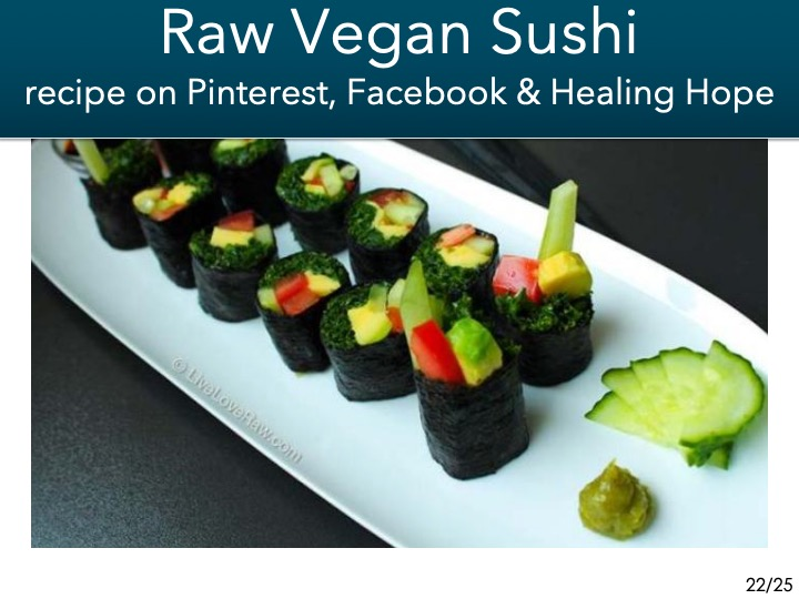 -raw vegan sushi