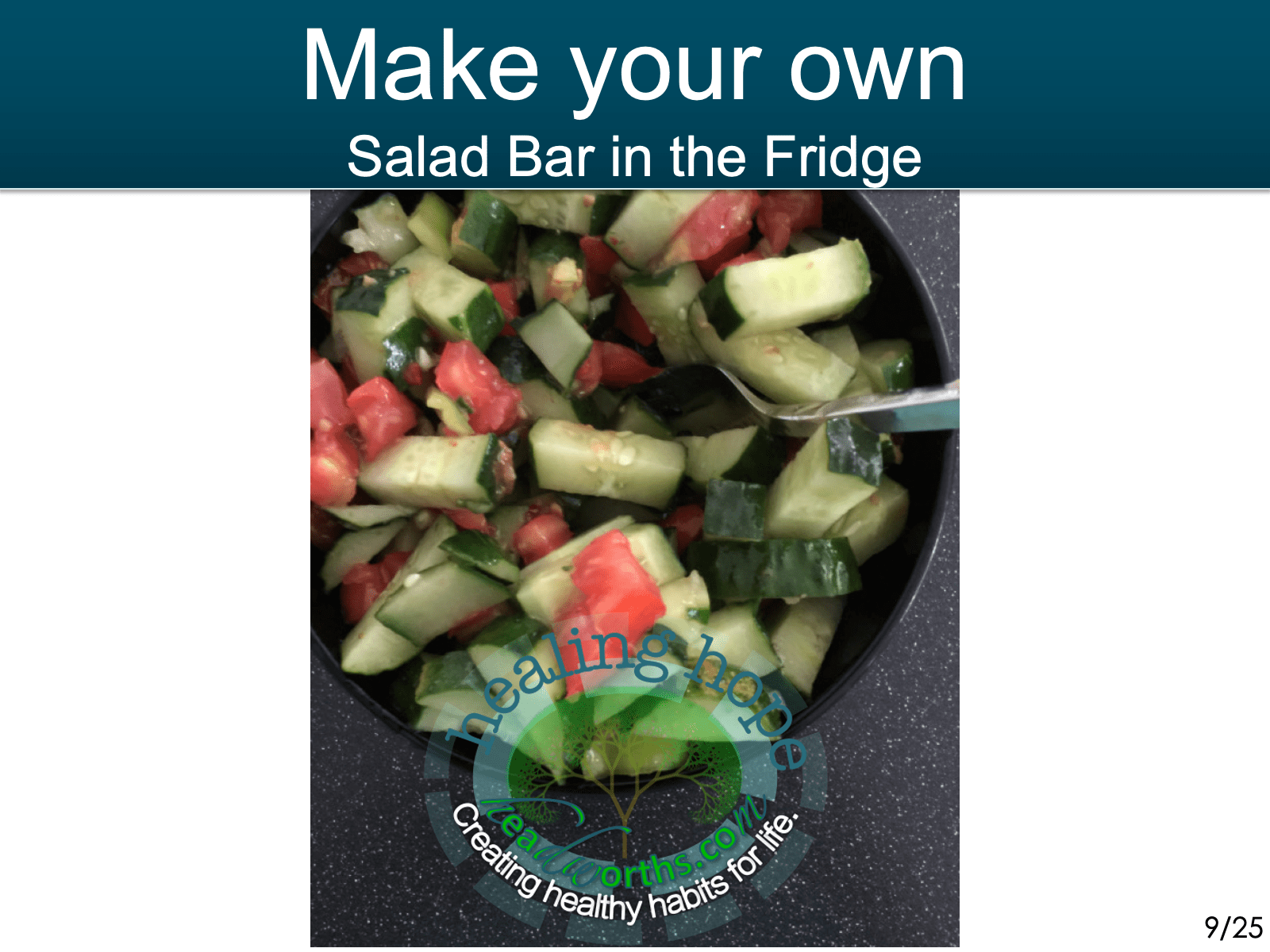 -make your own Salad bar in the fridge