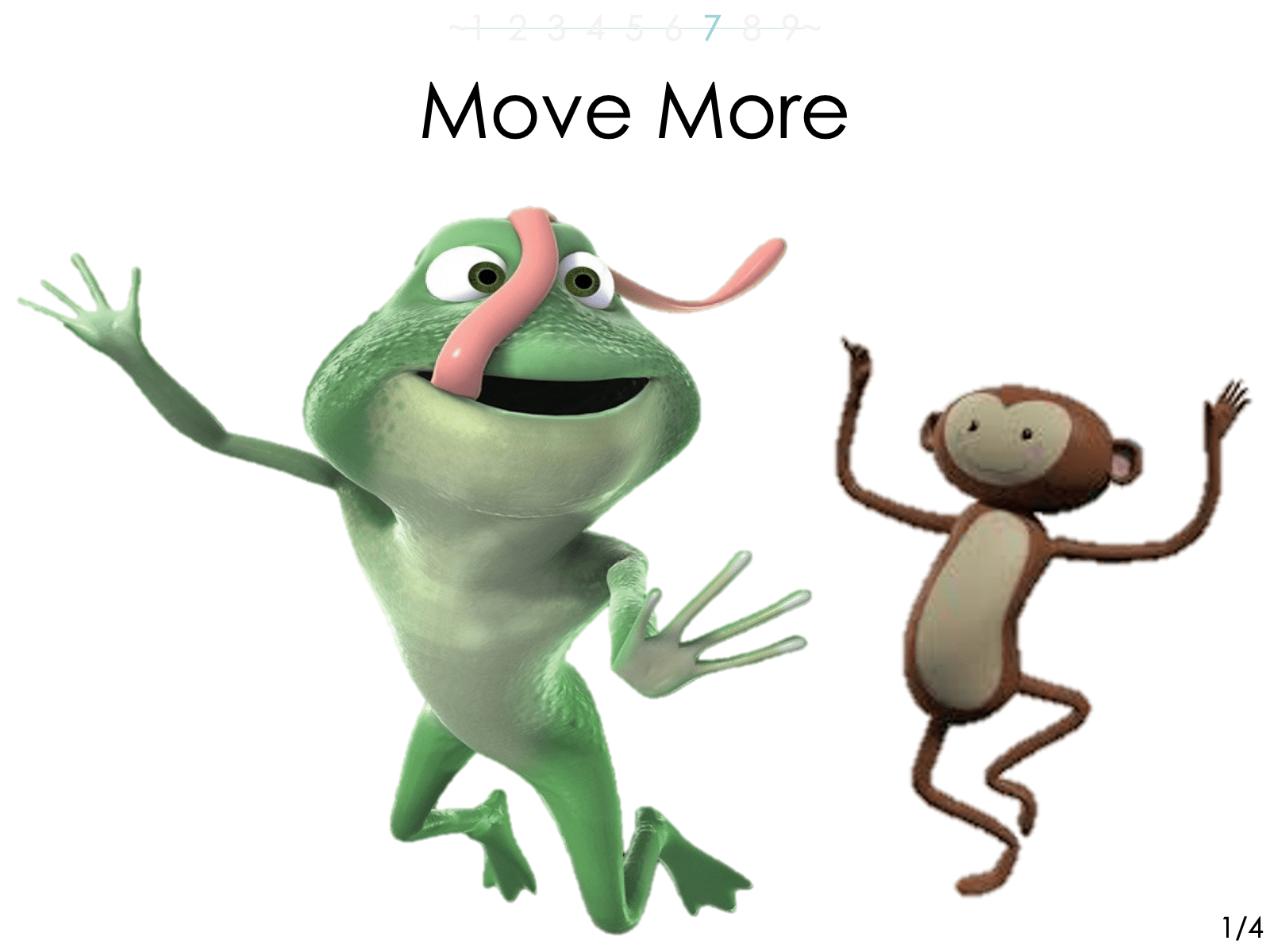Part 8 of 12 is how to  -'Move More'.