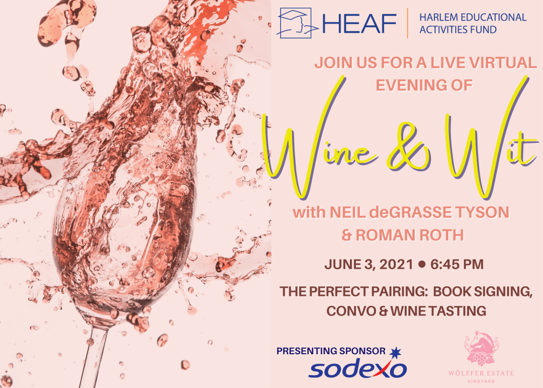 flyer for Wine and Wit event