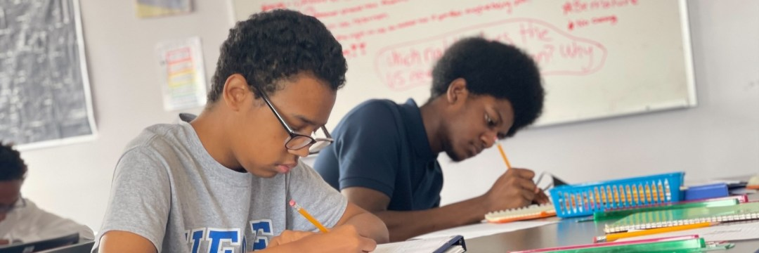 Two HEAF students taking a quiz