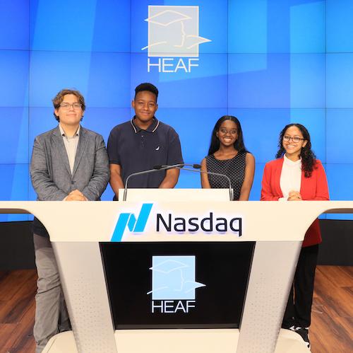 Five new HEAF Board members: Allison Allen, Cecil Brooks, Jr., Deirdre Guice Minor, Elan Keller, and Tom Veripapa