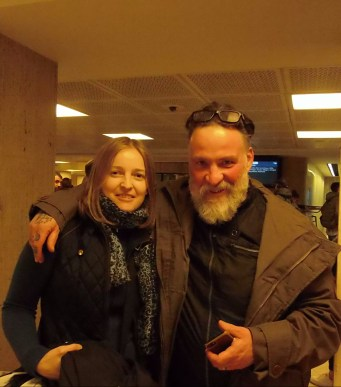 Bouli Lanners and me in the Central train station in Brussels on 5/5/2017
