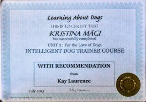 Intelligent Dog Training Course tunnistus