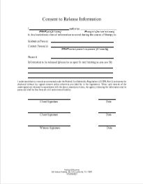 General Consent to Release Information Form