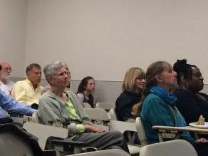 Audience listening to Tony's talk