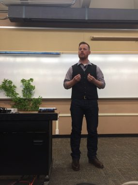 Josh giving his talk