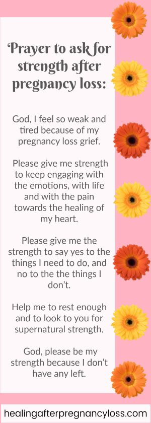 Prayer for strength after miscarriage or pregnancy loss