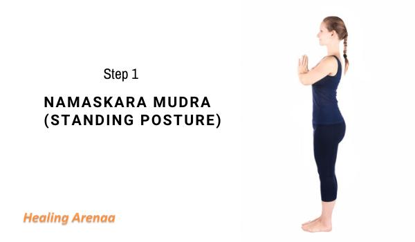 Namaskara mudra (Standing Posture)