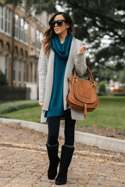Chunky Knitwear and Ugg Boot