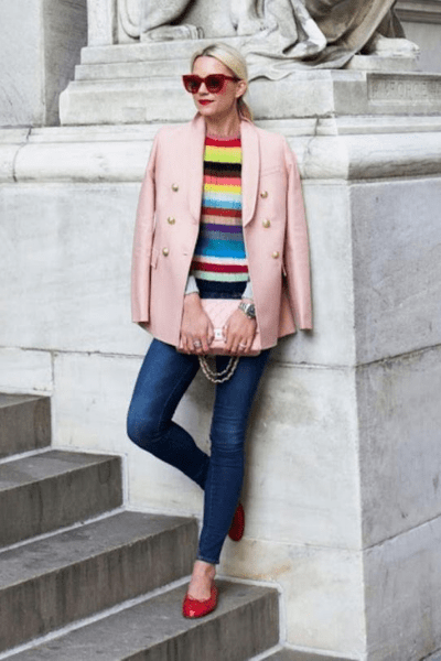 Stripe Jumper with Skinny Jeans - Winter Outfits For Girls