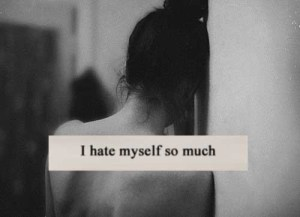 I hate myself - self-hatred spirits