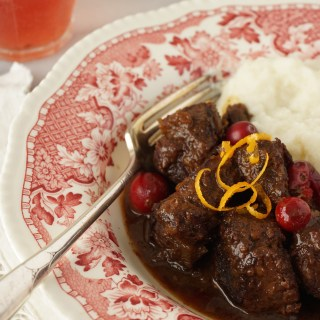 beef stew with orange and cranberries {AIP}