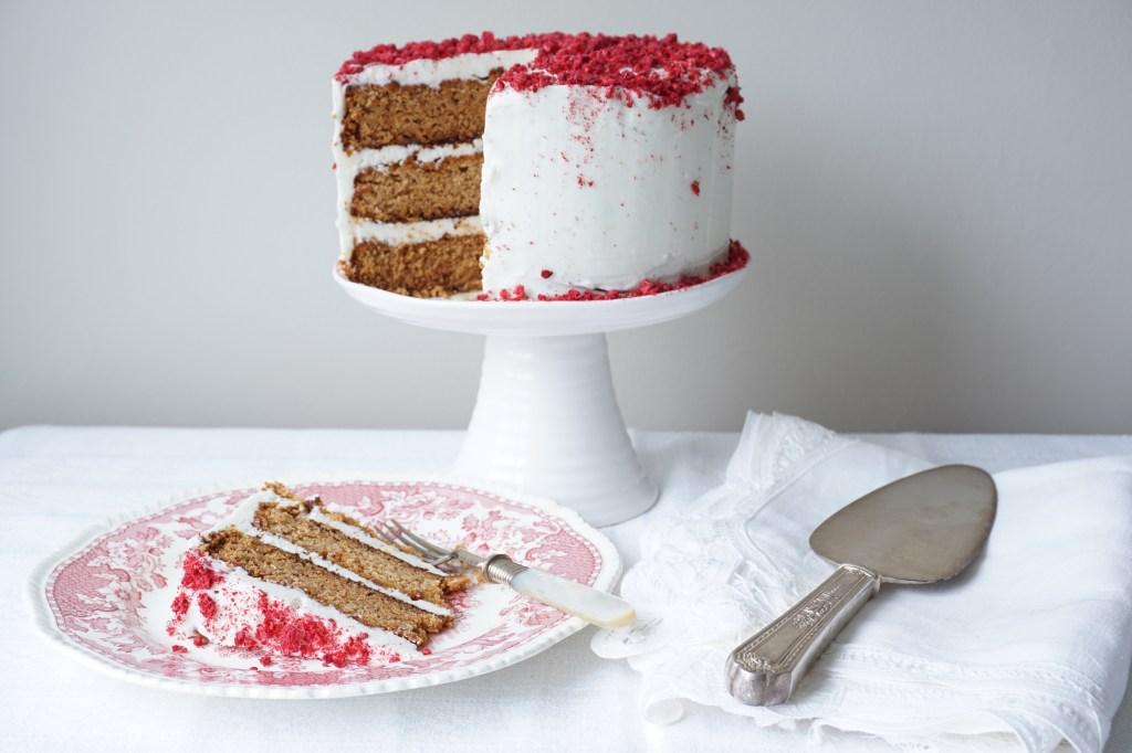 Raspberry Valentine Cake {AIP}