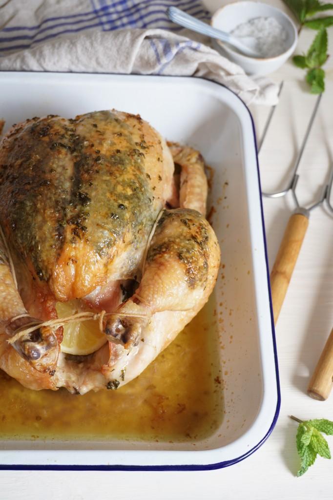 Lemon and Mint Roasted Chicken   AIP   Healing Family Eats