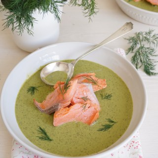 Wild Sockeye Salmon with Spinach and Dill Cream - Healing Family Eats