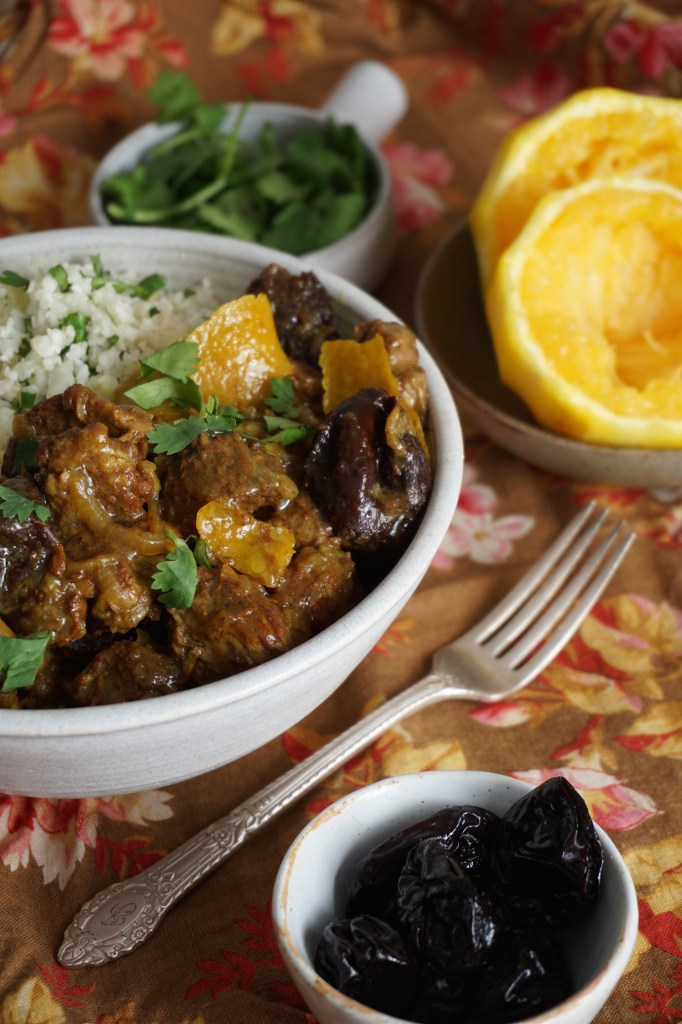 Lamb Tagine with Orange and Prunes [AIP]