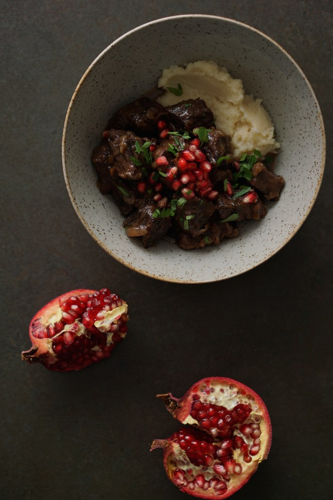 Rich Beef Stew w Pomegranates - HFE