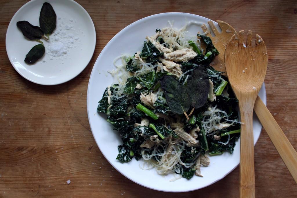 garlic kale kelp pasta by Kari - Healing Family Eats