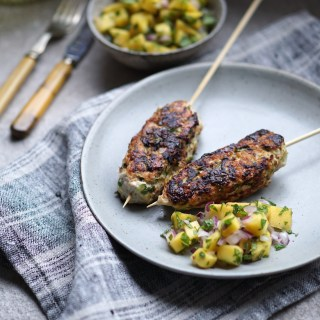 Herbed Chicken Zucchini Koftas with Minted Mango Salsa {AIP, GAPS, SCD, Paleo, Low Histamine}
