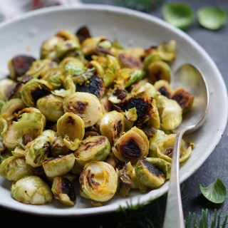 Charred Brussels Sprouts with Anchovies and Orange {AIP, GAPS, SCD, Paleo}