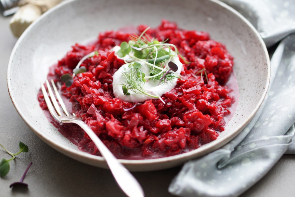 Beet and Celeriac Risotto