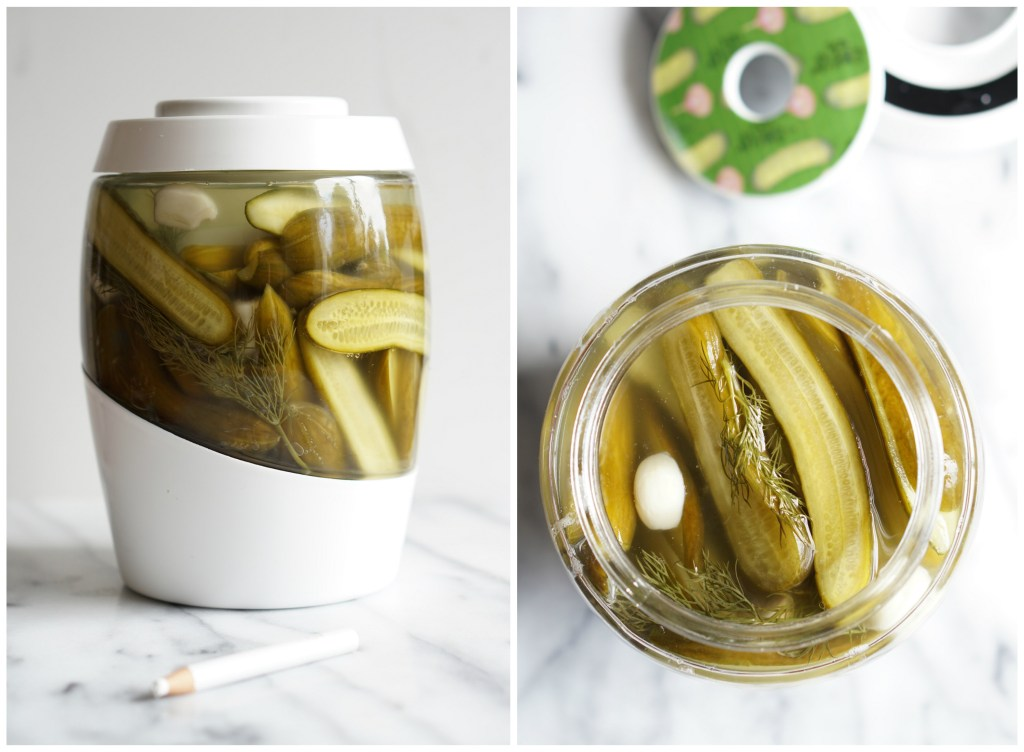 lacto-fermented garlic dill pickles {AIP}