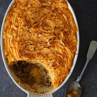 {quick} Shepherd's Pie with Golden Horseradish Mash {AIP, Paleo, Whole30, Low FODMAP}