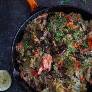 Sweet Potato and Wild Salmon Hash {AIP, Paleo}