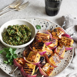 Turmeric Salmon Brochettes with a Chunky Tapenade Relish {AIP, GAPS, SCD, Paleo}