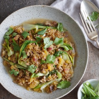 Lamb and Rutabaga Pilaf with Bok Choy {AIP, GAPS, SCD, Paleo}