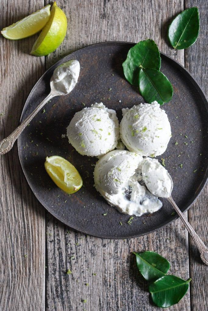 Thai Lemongrass, Lime and Ginger Ice Cream - Healing Family Eats