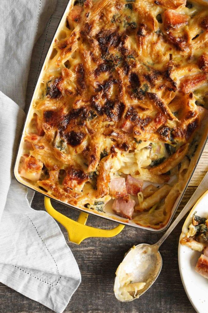 Cheesy Ham and Pasta Bake