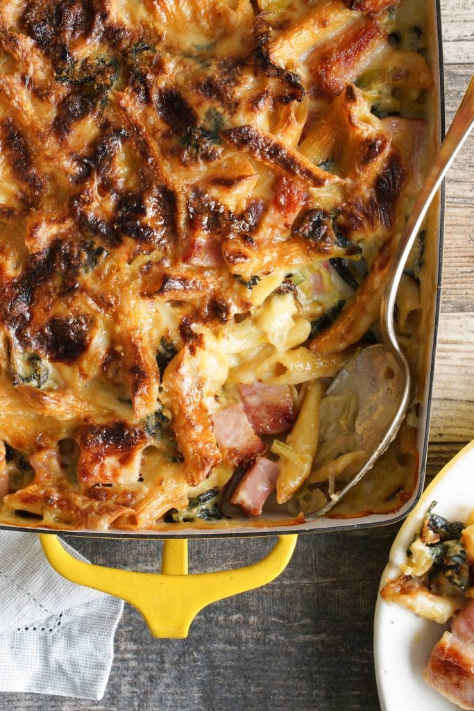 Cheesy Ham and Pasta Bake