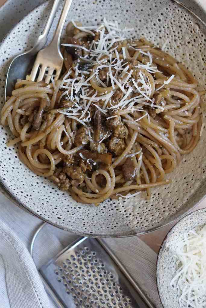 AIP spaghetti and meat sauce