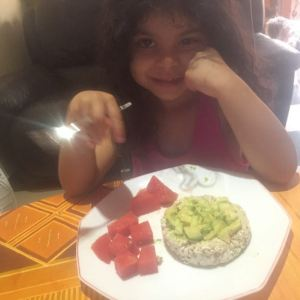 Toast with avocado and watermelon