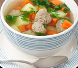 Italian Egg Drop Soup with Meatballs (Gluten Free)