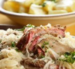 Slow-Roasted Cider Pork Loin with Cabbage (Dairy Free)
