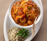 Curry Lamb with Tomatoes, Pine Nuts & Raisins